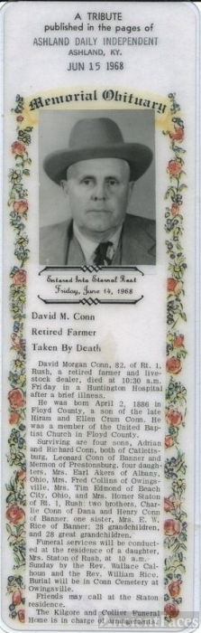 Obit. David Morgan Conn