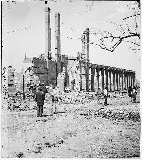 [Charleston, S.C. Ruins of the North Eastern Railroad depot]