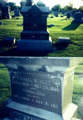 Michael and Magdalena Revert Tombstone