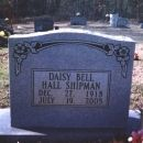 Daisy Bell Hall Shipman Marker: Apple Hill Cemetery