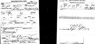Virgil Nolan Cowan WWI Draft Registration