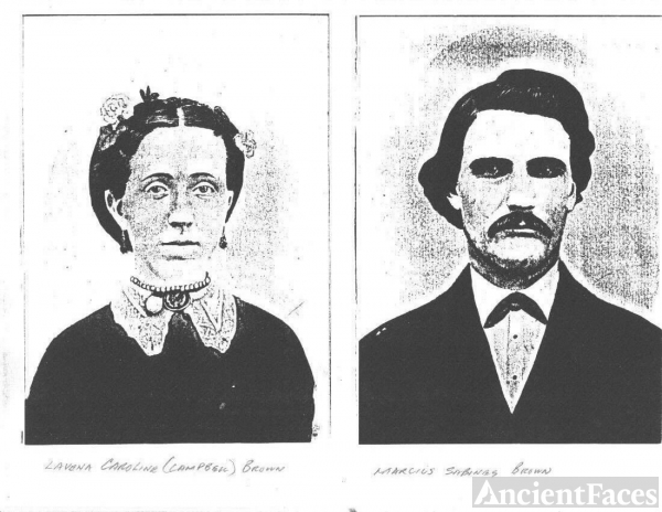 Marcius Sabinus Brown and Levena Caroline Vena Campbell