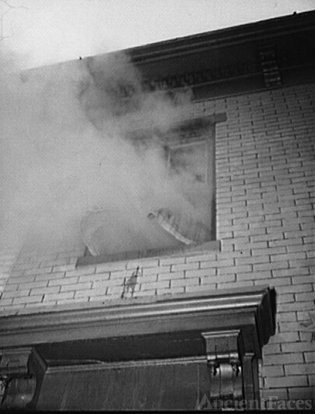 Firehouse station number four. Washington, D.C. Smoke,...