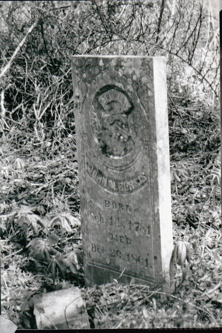 John M. BURRIS 1781-1861 - tombstone Burris Cem. on Roaring River Jackson Co. TN