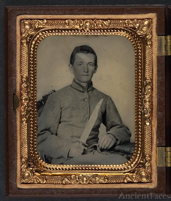 [Unidentified soldier in Confederate artillery uniform...