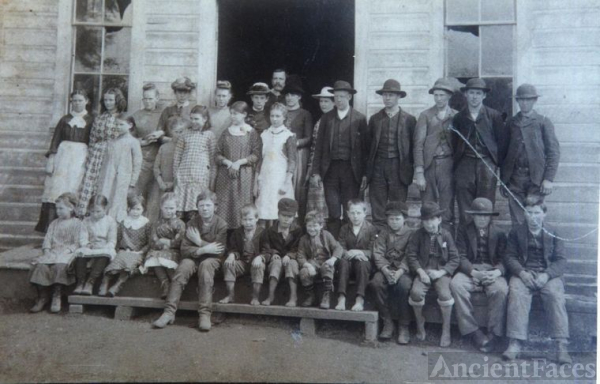 Scappoose school photo 1886