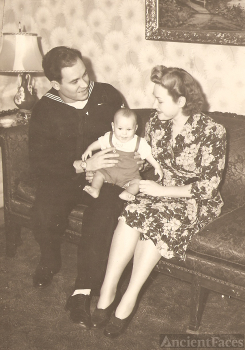 Rebe & Lou Vertal with first son Danny