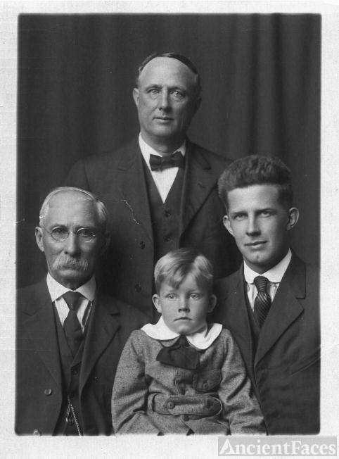 Four Generations of Cailey Men