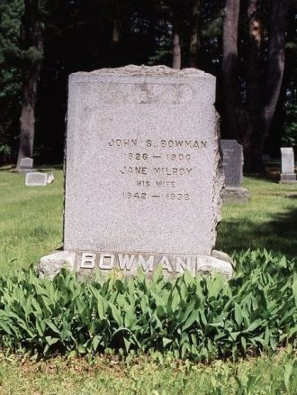 Grave of John and Jane Bowman