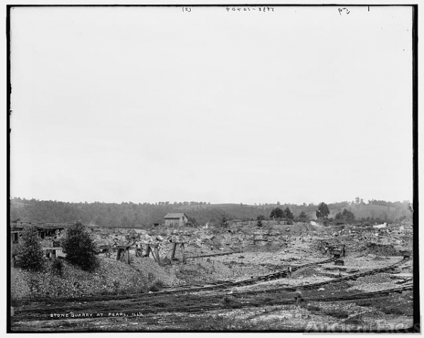 Stone quarry at Pearl, Ill[inoi]s