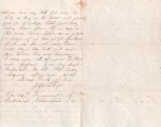 Civil War Letter Page 2