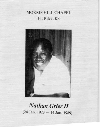 A photo of Nathan Grier Jr.