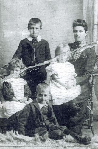 Mary Swaffield with children