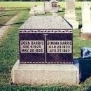 John and Jemima Harris tombstone