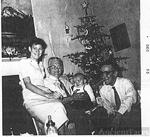 William, June, & Earl Thiele with Baby Charles