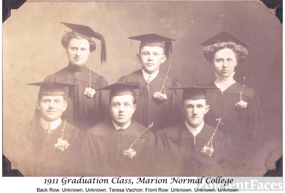 1911 Graduating Class; Marion Normal College
