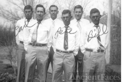 Carl, Bill, Pete and three other boys