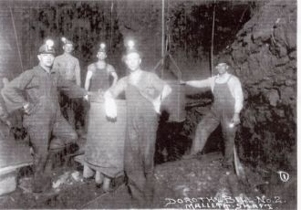 Miners in Mallett Shaft