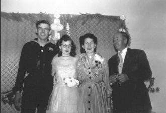 Charles & Sheila (Yonts) Freeman with Bride's Parents