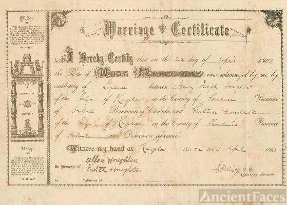 Houghton Marriage Certificate