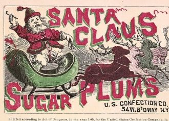 Santa Claus Label, 1868