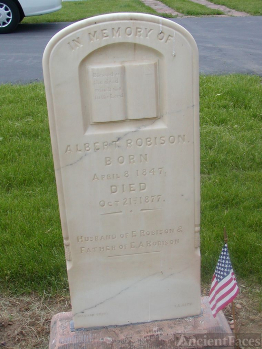 Gravestone of Albert Robison