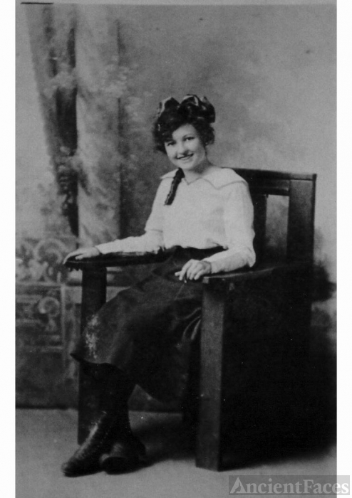 Goldie Viola Tabor in a chair