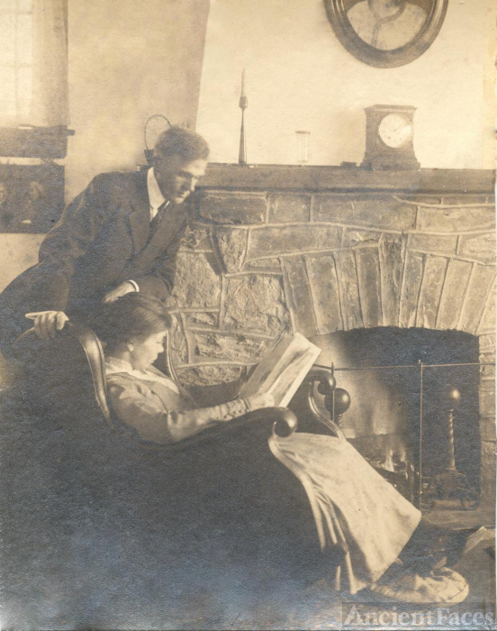 Robert and Ethel Hallowell at home