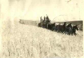 Parker Family Horse Drawn Combines, ID