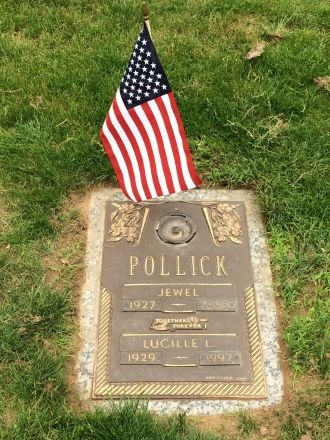Lucille and Jewell Pollick's gravesite