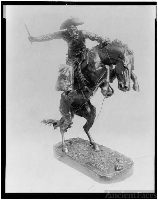 [The bronco buster by Frederic Remington]