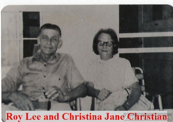 Grandparents Roy Lee and Christina Jane Christian