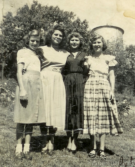 Aunts and Mom in their early years