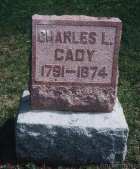 Charles Lewis Cady grave stone