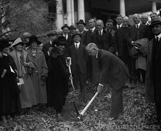 Duncan Stuart & Mrs. E.K. Clinton break ground for Takoma...