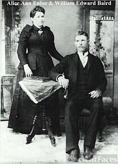 Alice Ann Enlow and William Edward Baird, 1892 Missouri