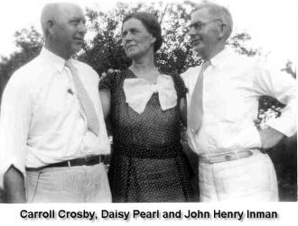 Inman Siblings: Carroll, Daisy and John Inman