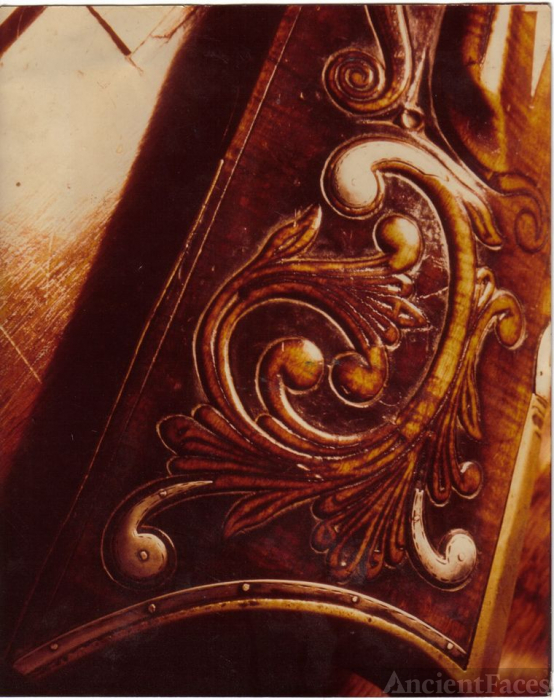 RELIEF CARVING DETAIL,ABRAHAM HONAKER RIFLE