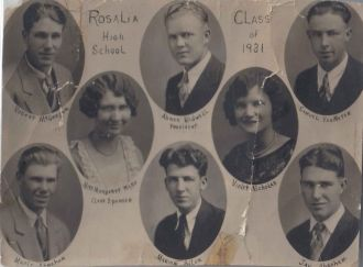 Rosalia Kansas High School Class of 1931