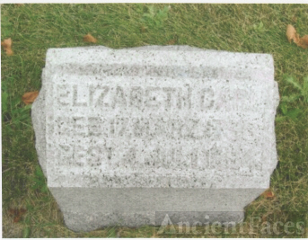 The Tombstone of Elizabeth Henrietta Carl (17 March 1793-4 July 1884)