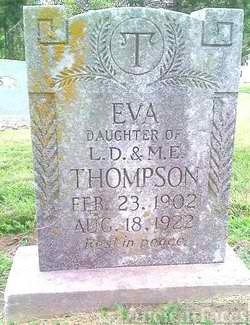 Eva Thompson  headstone, 1922