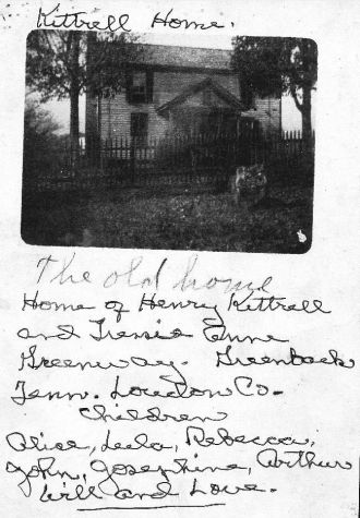 Henry Newton Kittrell home of Greenback, TN