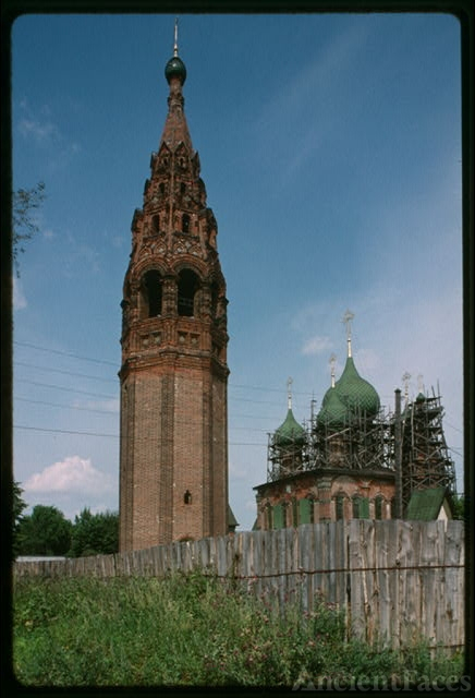 Bell tower at Korovniki (1680s), southwest view,...