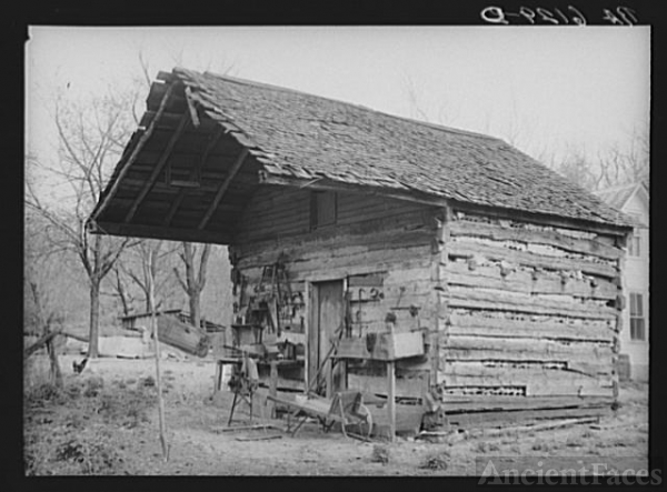 Tool shed converted from old log house on Watson...