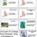 2nd part lineage Edward I king of England to JoAnn Davidson