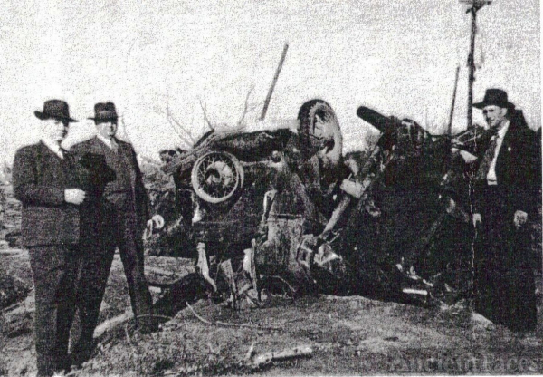 The Wreck of Henry Wright Dunn's Car