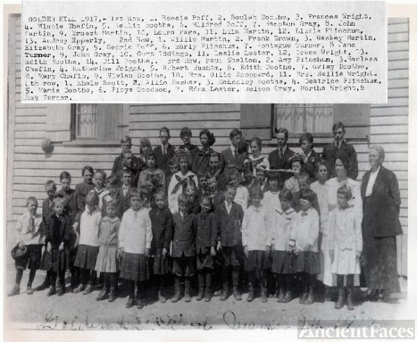 Golden Hill School 1917