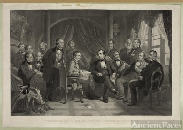 Washington Irving and his literary friends at Sunnyside