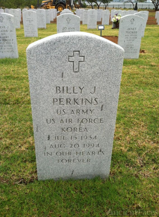 Billy J Perkins gravesite