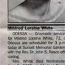 Obituary of Mildred Neal White